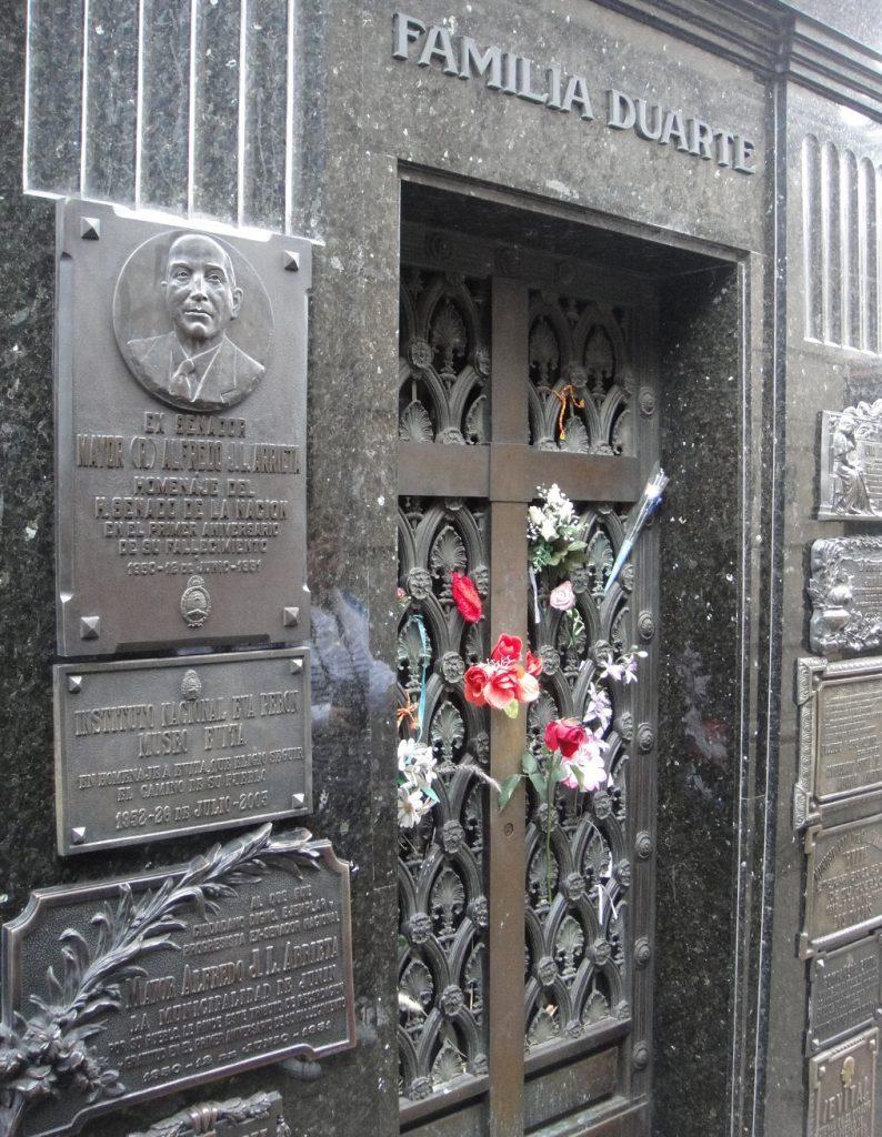 Evita tomb Recoleta Cemetery