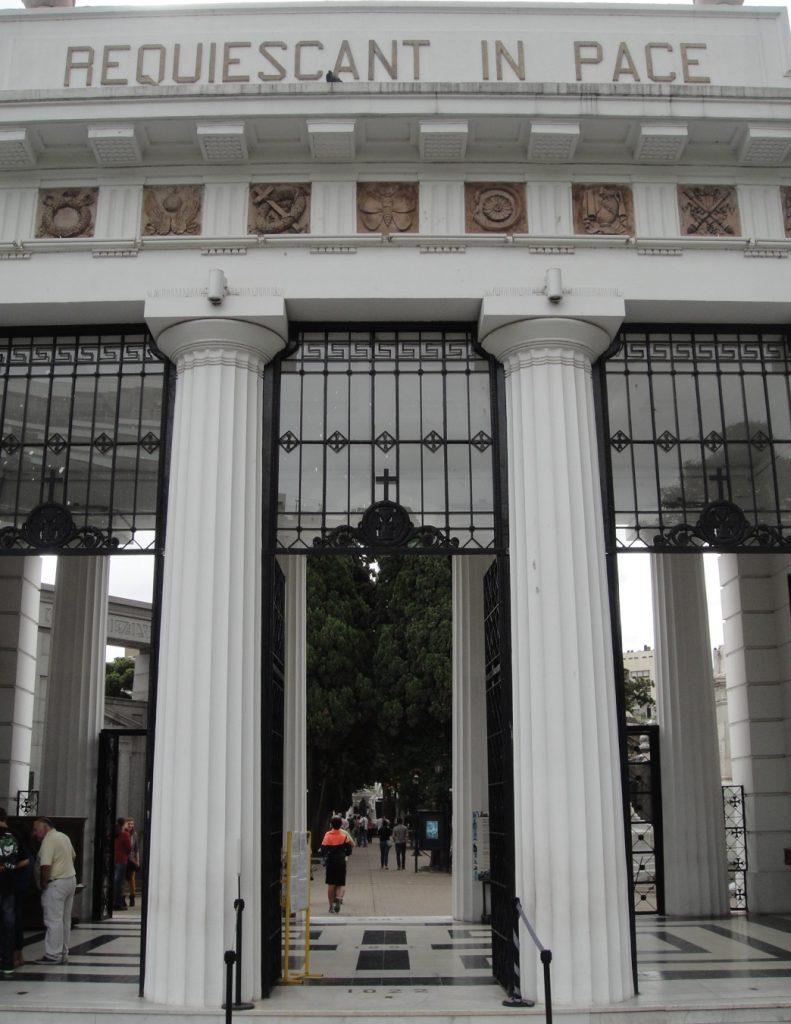 Entrance Recoleta Cemetery Buenos Aires