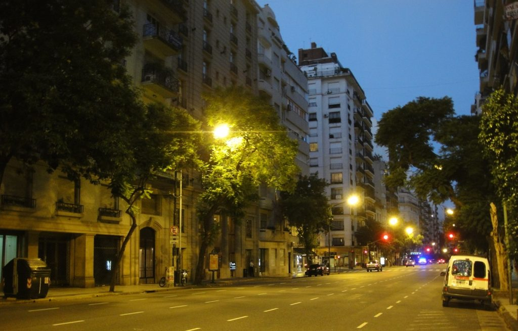 recoleta stereet evening