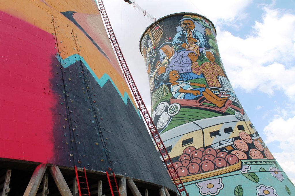 Rock Climbing wall Orlando Towers Soweto