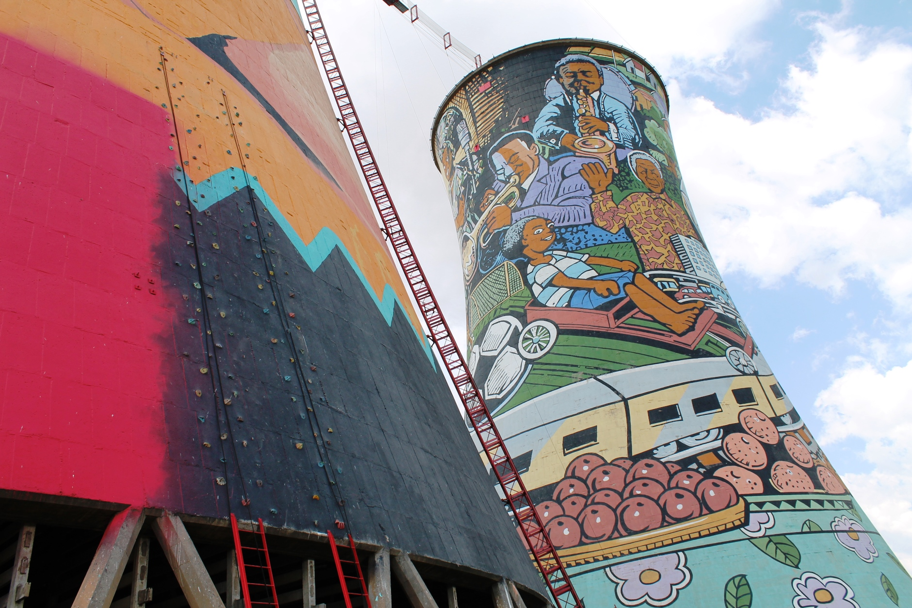Climbing and more at Orlando Towers, Soweto