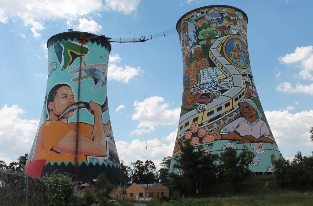 cooling towers at Soweto Orlando Towrers