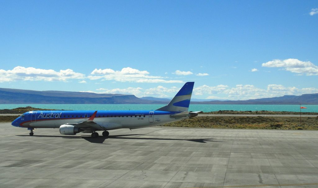El Calafate airport runway lake argentina