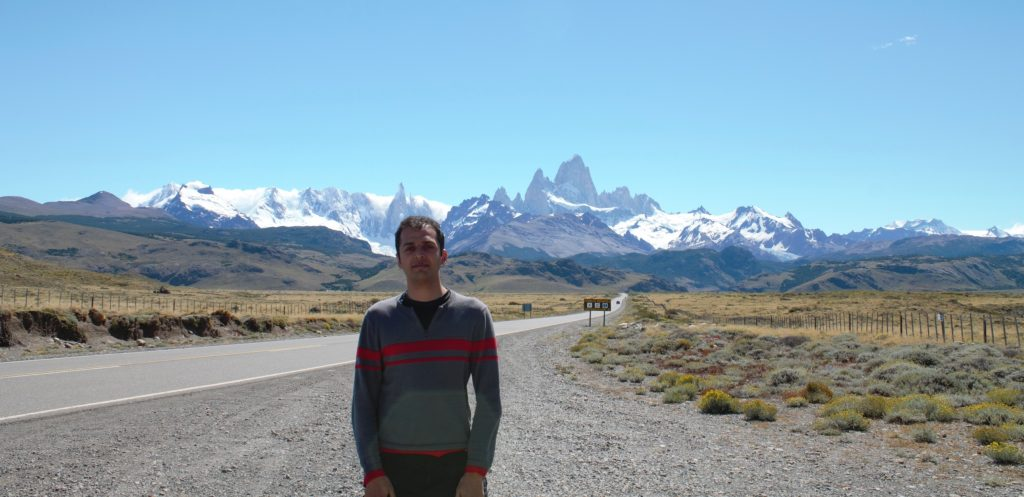 Bus stop outside El Chalten Fitz Roy