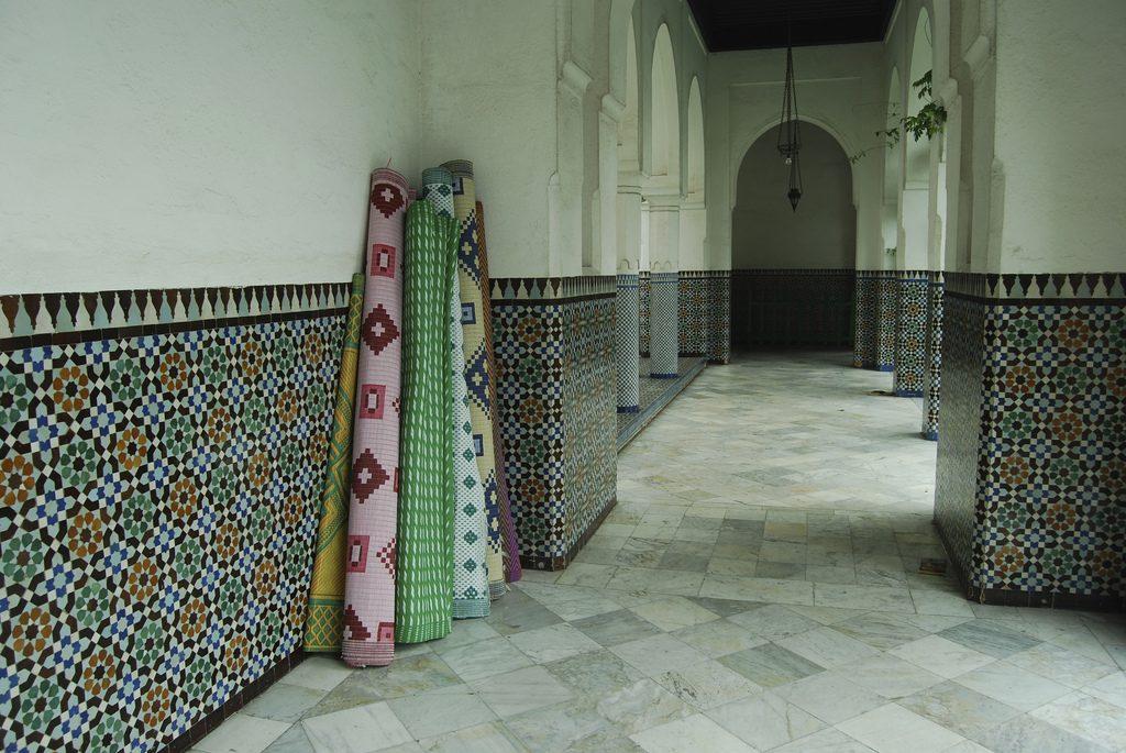 corridor in mosque of paris