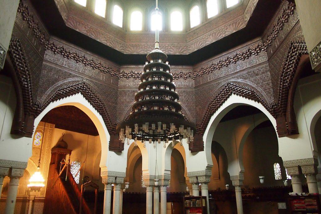 cieling prayer area mosque of paris