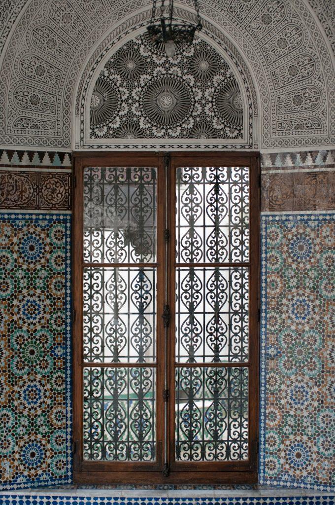 window mosaic mosque of paris