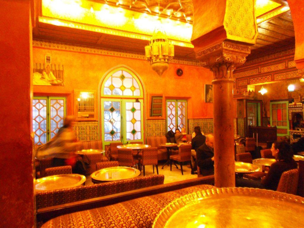 restaurant interior mosque of paris