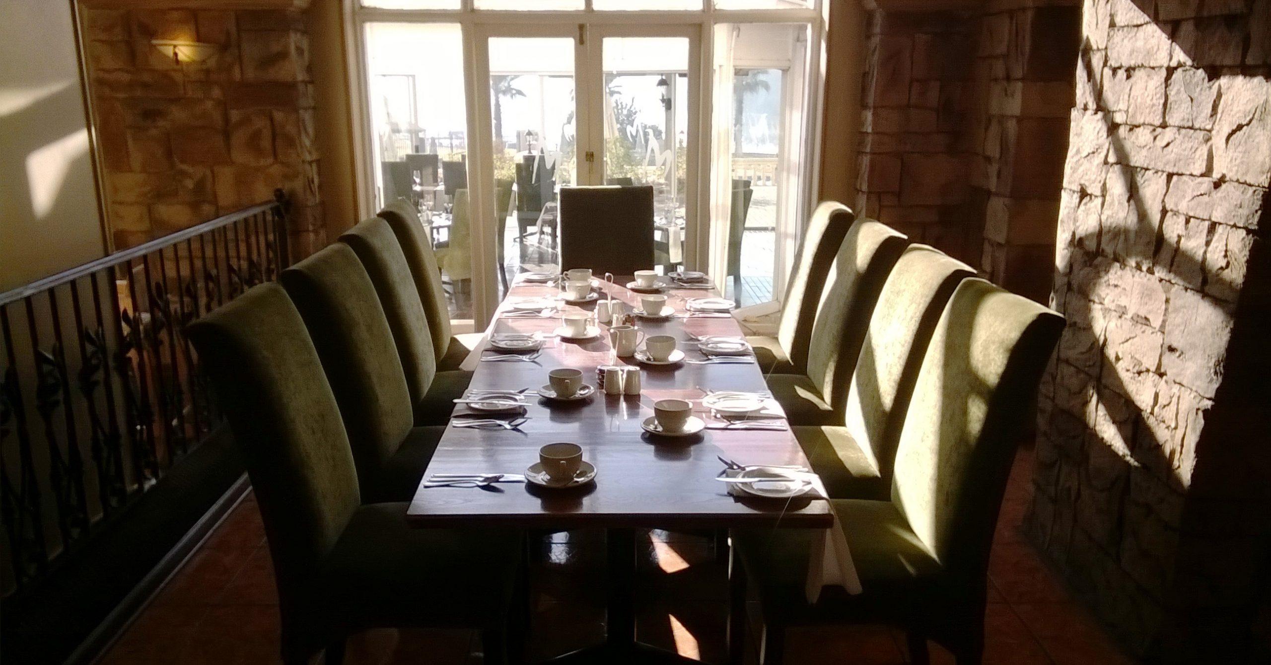 Bon Hotel Riviera on Vaal - breakfast table