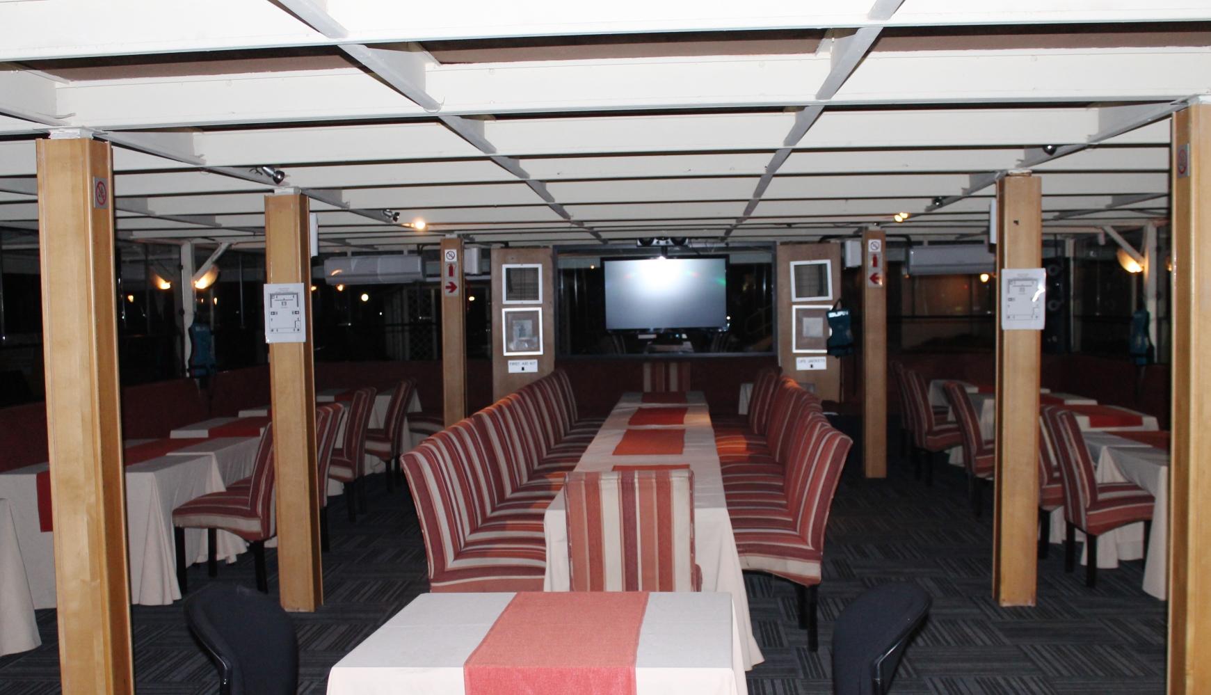 Bon Hotel Riviera on Vaal - inside riverboat