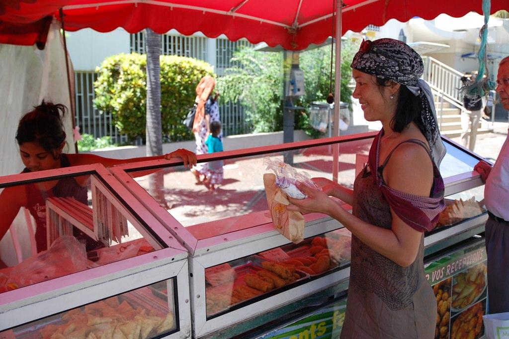 buying samosas