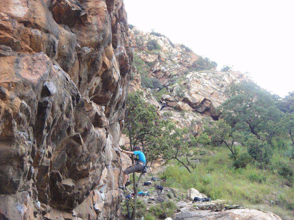 Climbing at Kings Kloof Krugersdorp