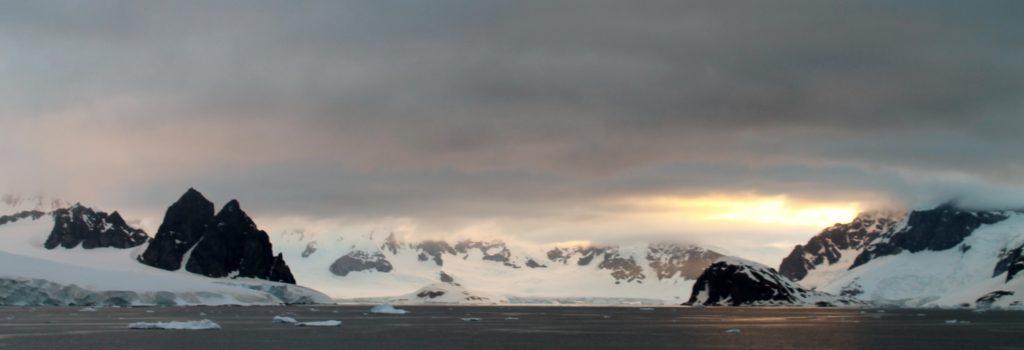 sunset antarctica