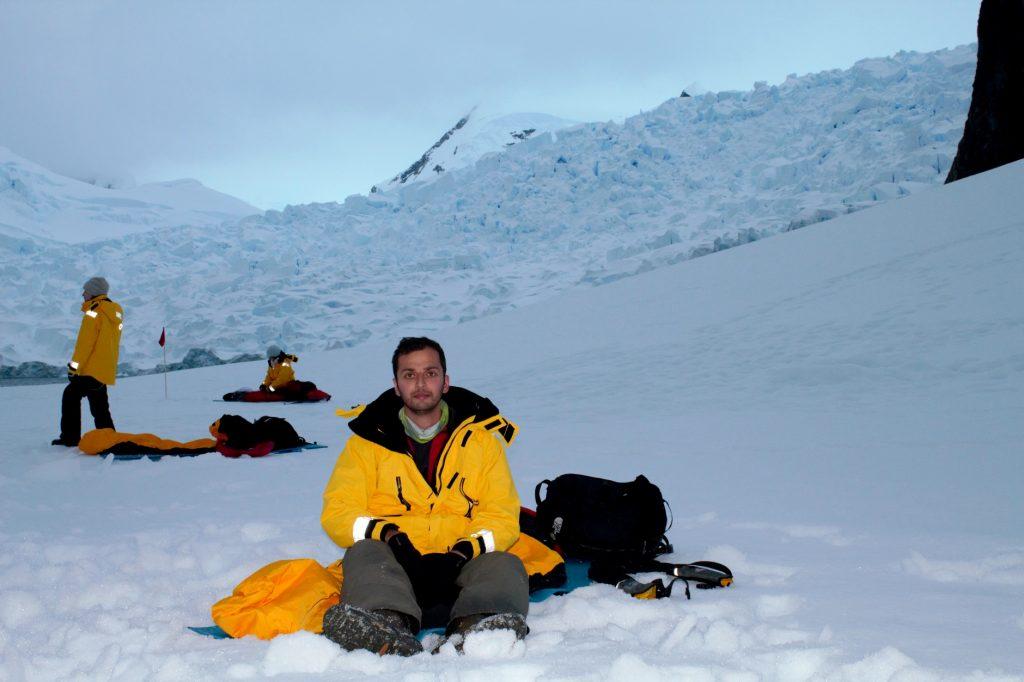 zaid mahomedy camping antarctica