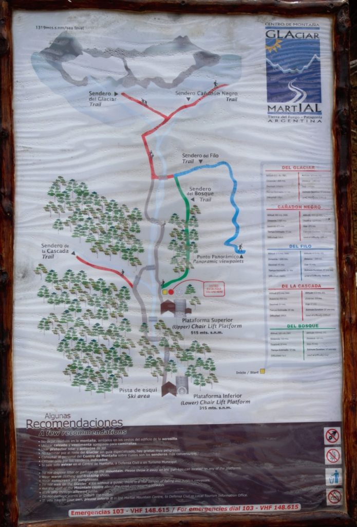 Martial Glacier trails