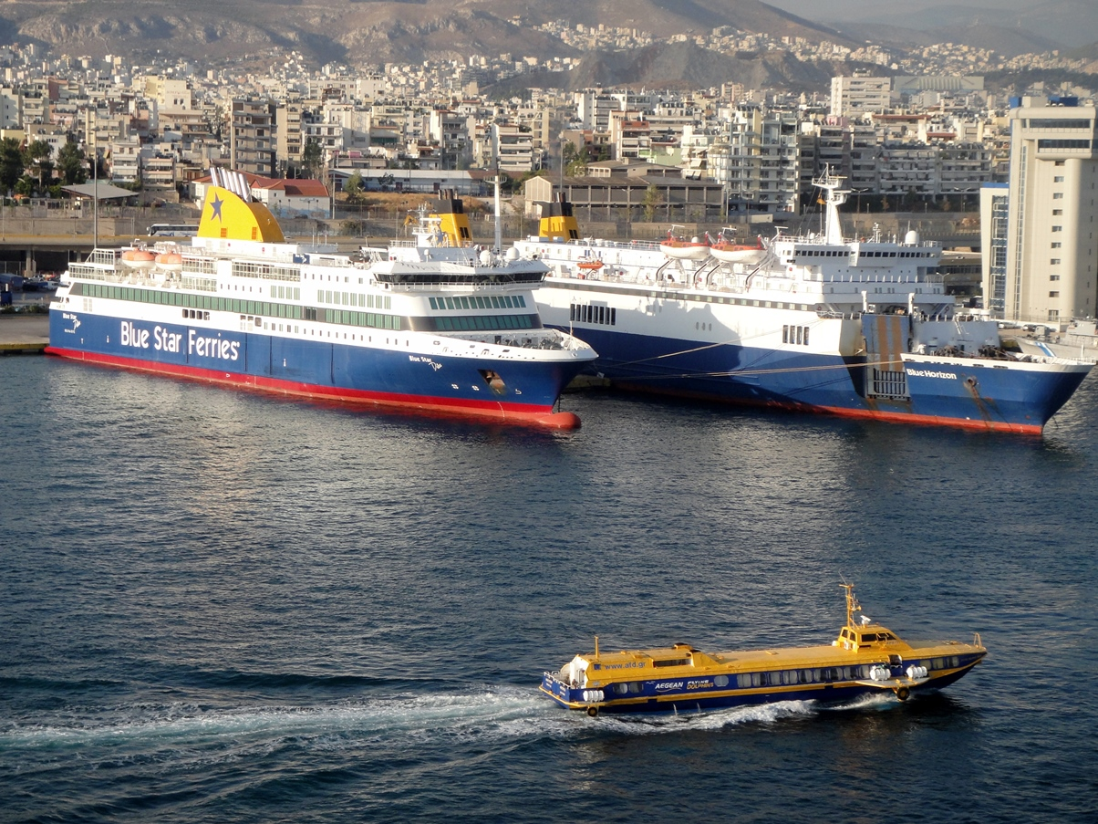 Ferries at Piraeus