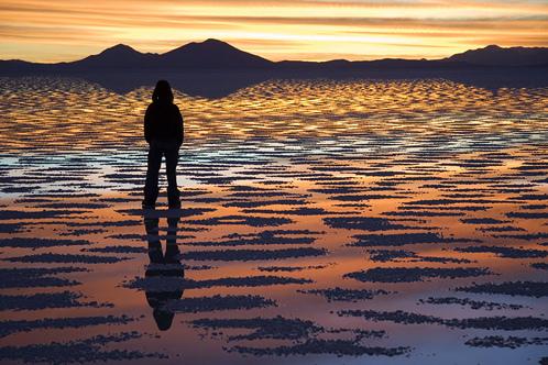 Salar de Uyuni Salt Flat in Potosi, Bolivia