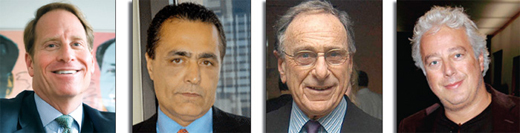 From left to right: Kent Swig, Yair Levy, Harry Macklowe and Aby Rosen could be personally liable to lenders.