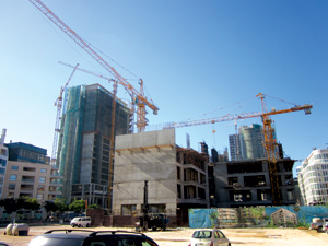 Eden Gardens, a six-story residential and retail project in downtown Beirut, being developed by Lebanon-based A&H Construction & Development.