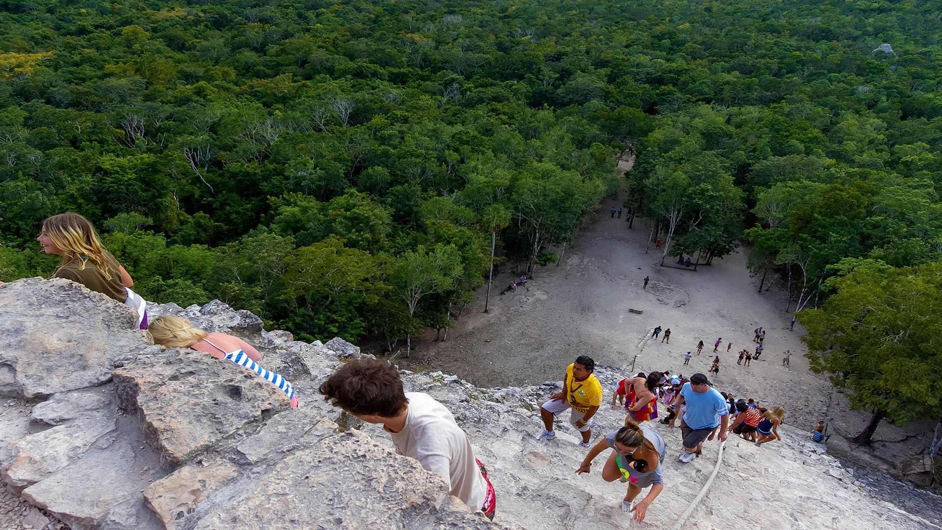 Climbing The Ancient Mayan Ruins Of Coba