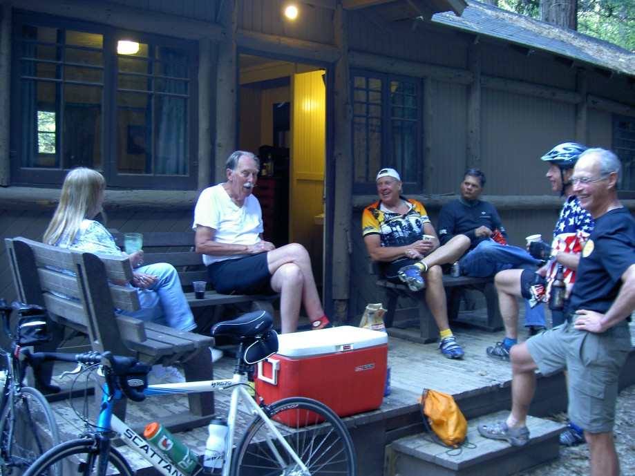 Trip photo #29/39 Post-ride get together in Curry Village
