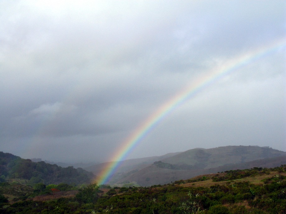 Trip photo #3/5 Brief rainbow (double portion just visible)