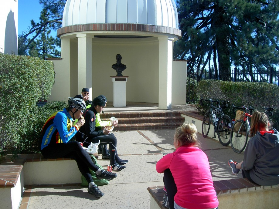 Trip photo #15/26 Lunch time near memorial to Rev. Laurentine Hamilton