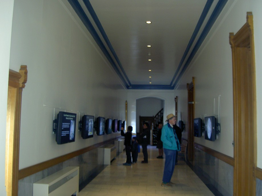 "Trip photo #17/26 Exhibit hallway in the original observatory bldg. (36"" refractor dome at end)"