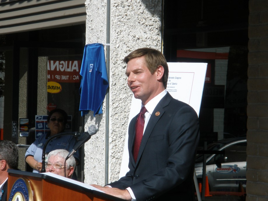 Trip photo #20/21 Rep. Swalwell - proposed the name change in Congress