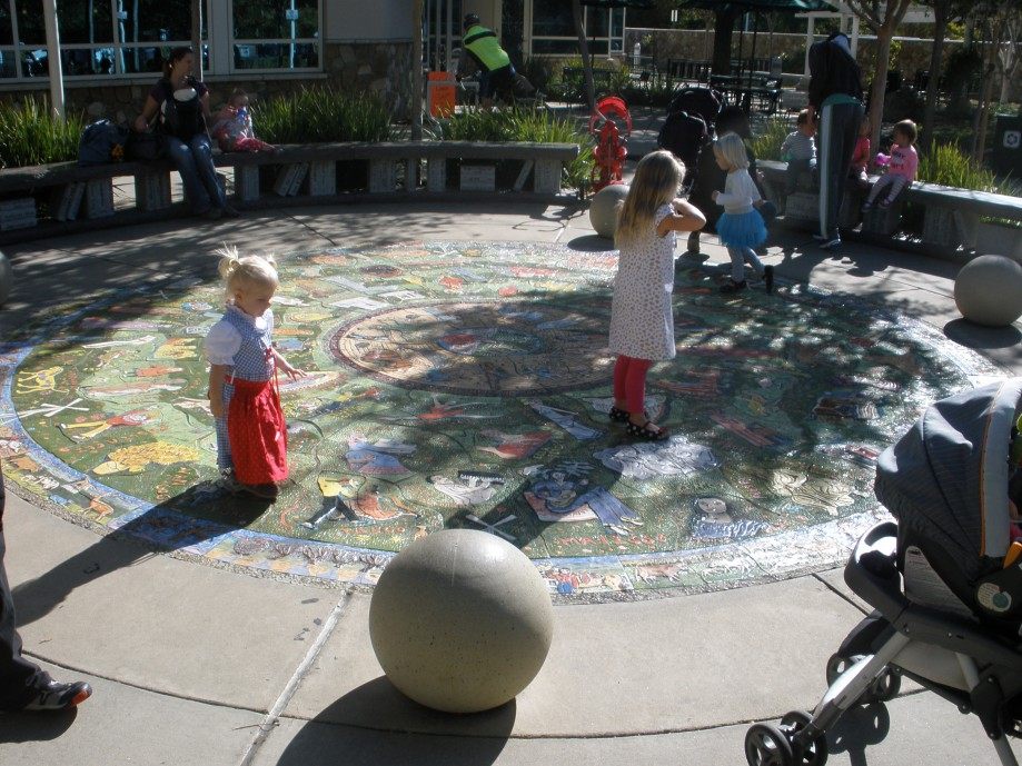 Trip photo #7/15 Art mosaic in front of library
