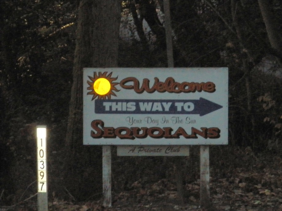 Trip photo #13/16 Sign for the Sequoian clothing-optional club