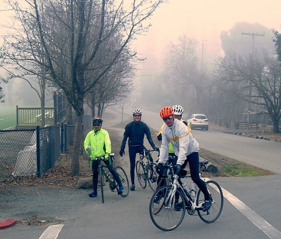 Trip photo #6/17 Back in the fog at Athenian School