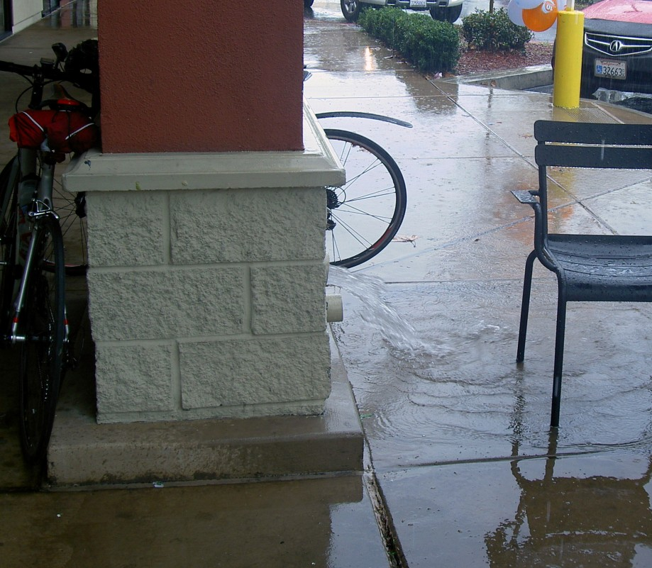 Trip photo #4/7 A little water from the downspouts
