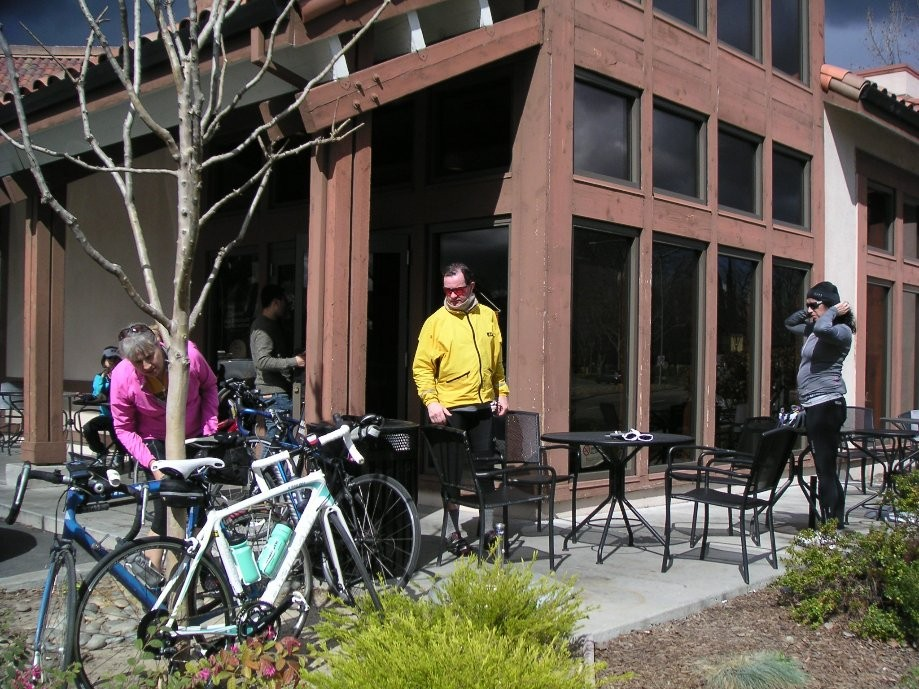 Trip photo #19/21 Refreshment stop at Peet's on Hopyard