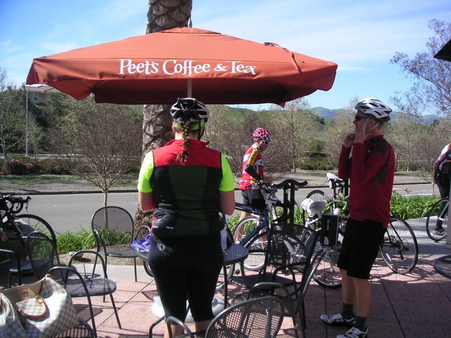 Trip photo #4/6 Refreshment stop at Peet's Coffee at Bollinger Canyon and Dougherty