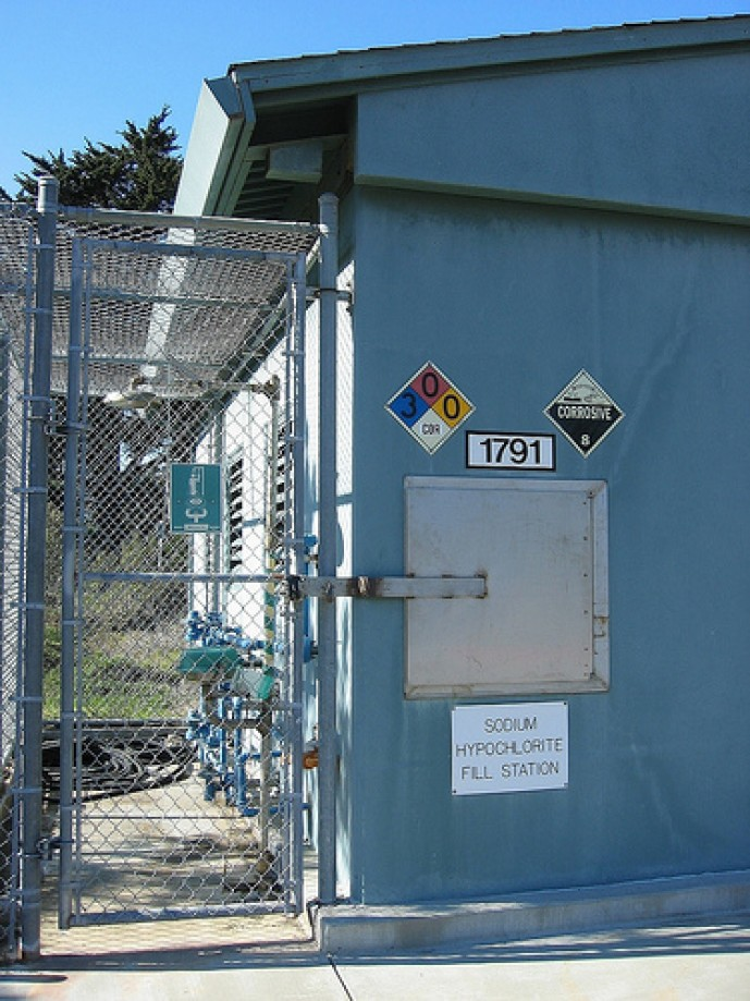 Trip photo #1/29 Chemicals for the Sewage Treatment Plant Downhill