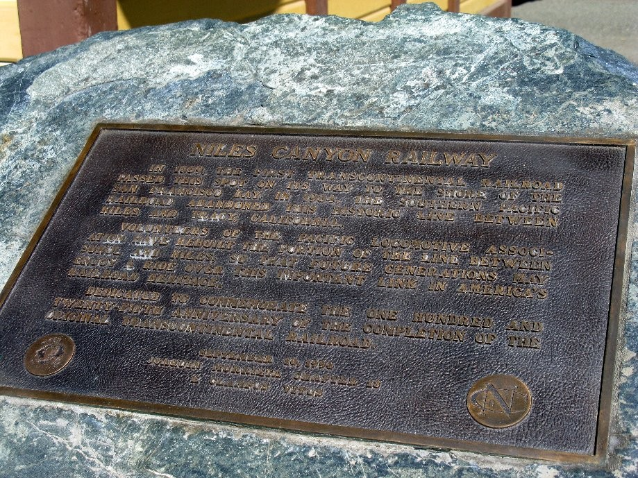 Trip photo #4/32 Sunol RR station marker - part of 1st Transcontinental RR