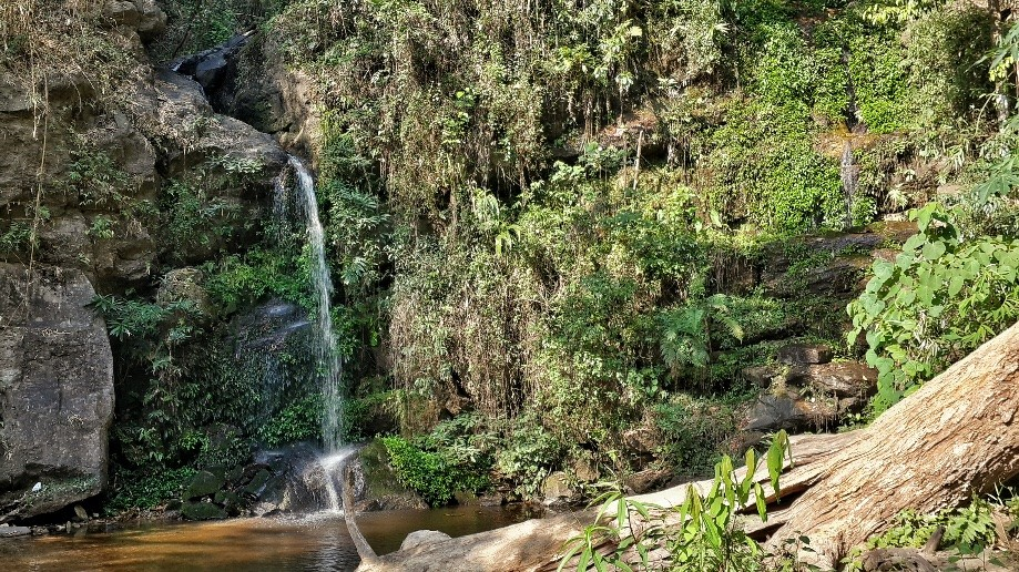 Trip photo #2/5 Monthathan Waterfall.  You come out to a road then get back on a trail to get to here.