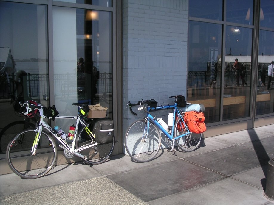Trip photo #1/20 Bikes ready to depart from the back of the Ferry Bldg.