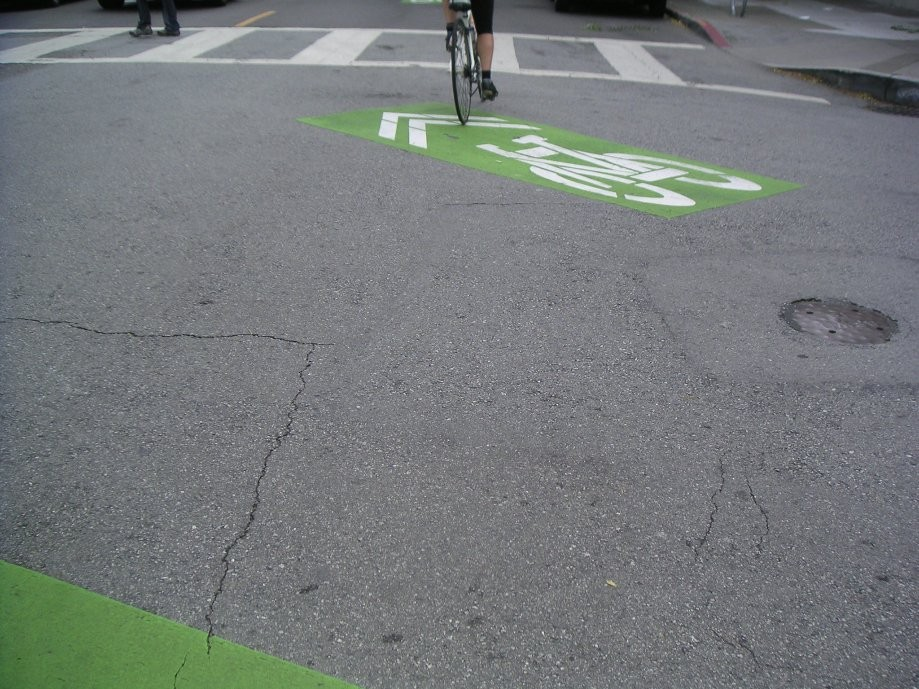 Trip photo #31/33 New green sharrows