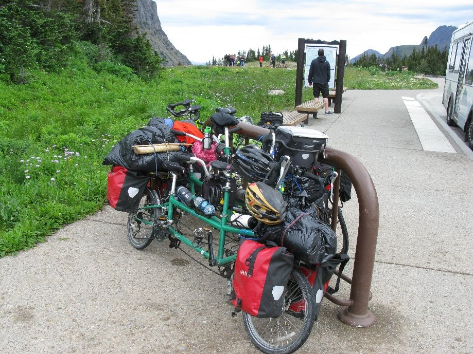Trip photo #24/56 Two Bike Friday Family tandems at pass (Seattle - East Glacier trip)