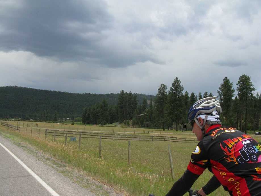 Trip photo #6/7 Some threatening clouds but we only got a sprinkle (exc. Bob who rode on to Missoula)