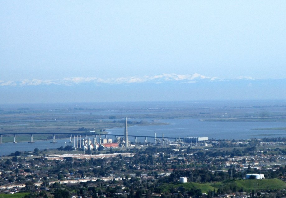 Trip photo #19/33 Snow-capped Sierras behind Antioch bridge