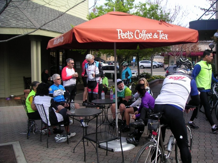 Trip photo #1/4 Refreshment stop at Peet's in Danville