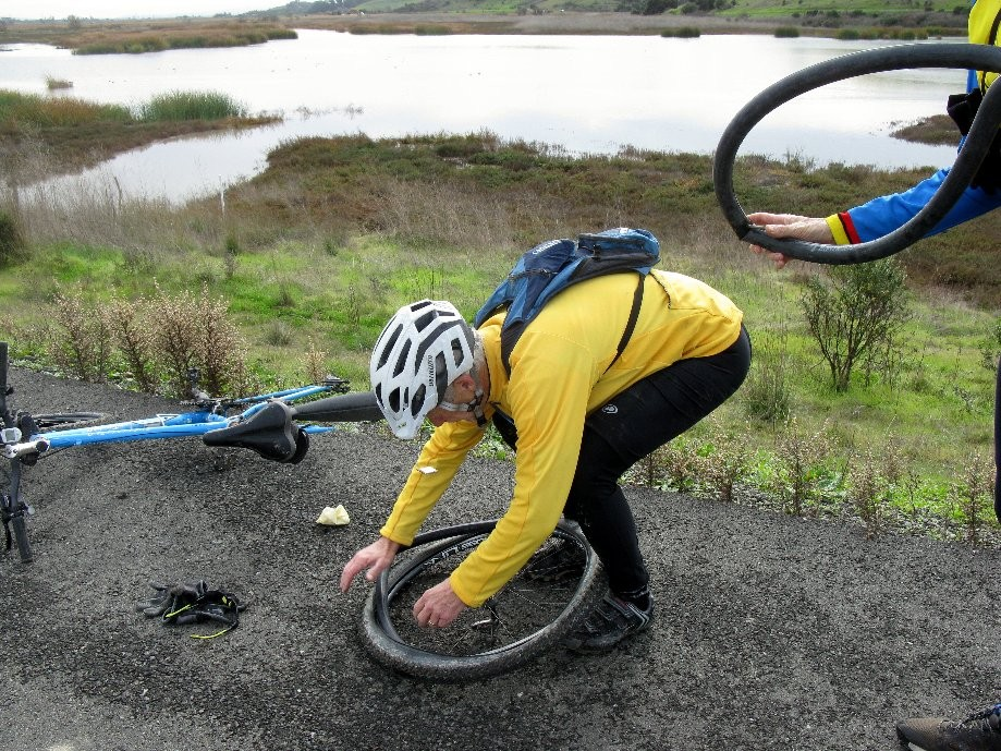 Trip photo #8/11 Flat tire in the Coyote Hills
