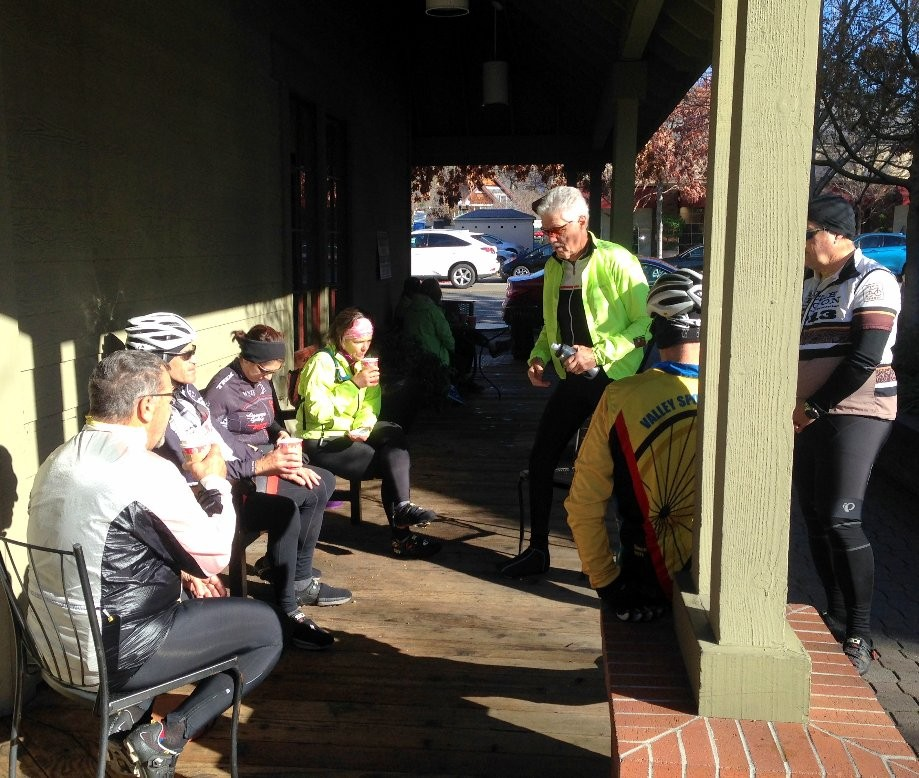 Trip photo #2/3 Refreshment stop at Peet's in Danville