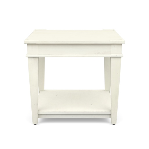 Azaela End Table White Finish