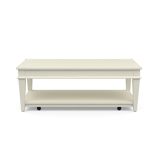 Azaela Cocktail Table White Finish