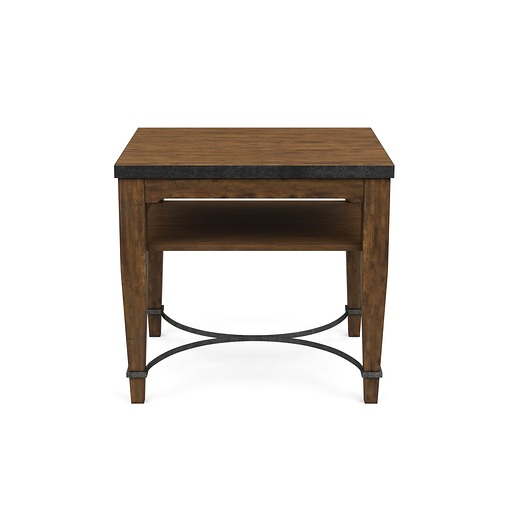 Ginkgo End Table Brown Square