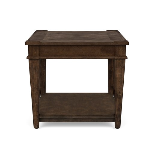 Azaela End Table Brown Finish